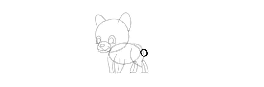 chibi wolf tail base