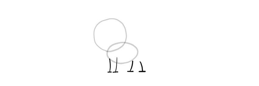 chibi wolf legs