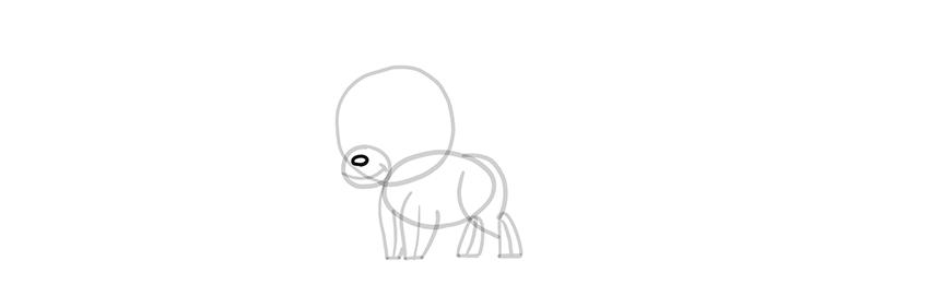 chibi wolf nose