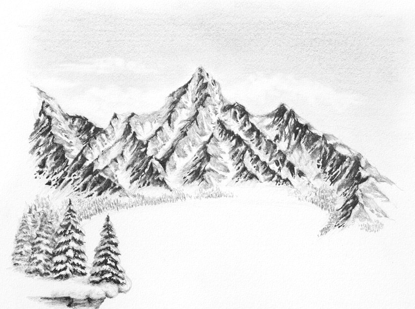 how to draw trees from distance