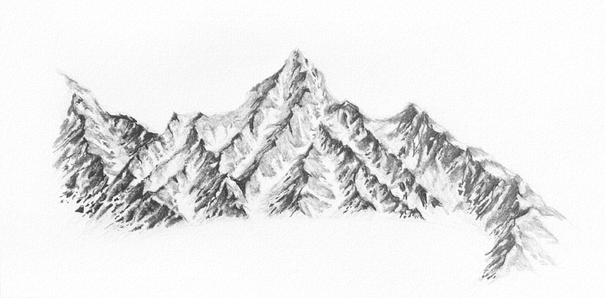 how to draw snow