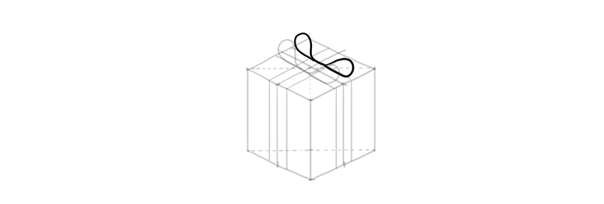 how to draw a present bow