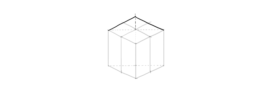 how to draw a cube box