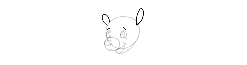 how to draw simple ears