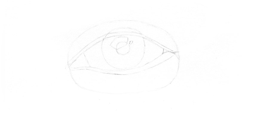 sketch of eye
