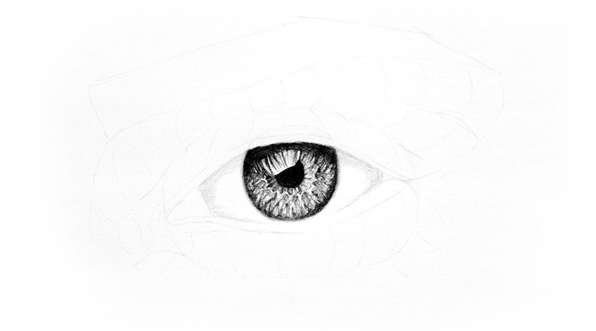 how to shade white of the eye