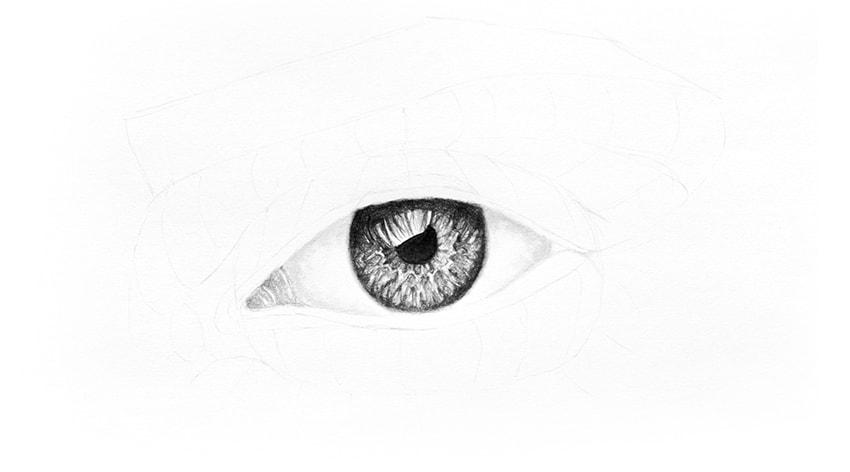 shade corner of the eye