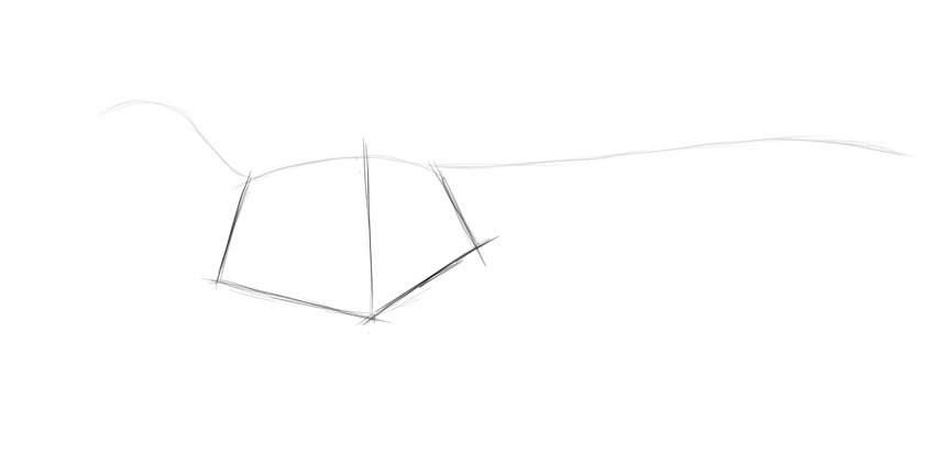 sketch dinosaur body