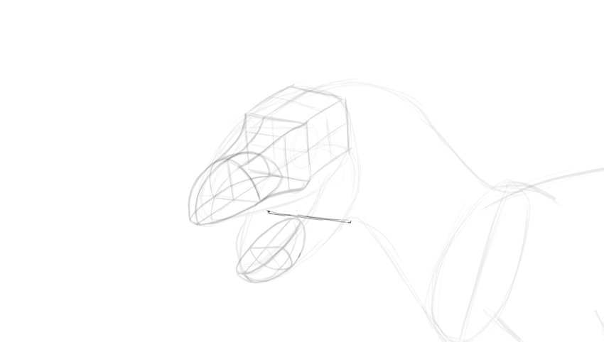 how to draw dino jaws
