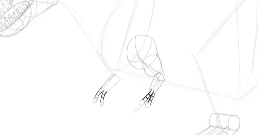 how to draw dinosaur hands