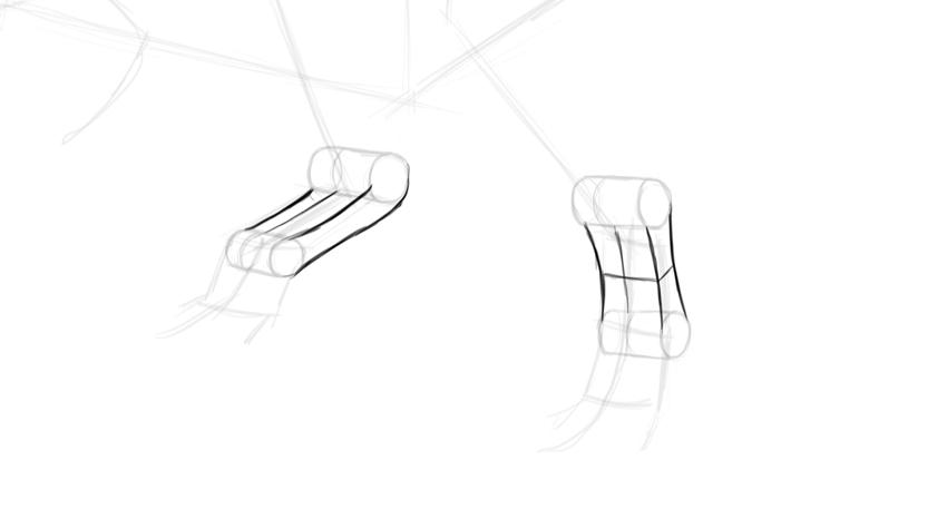 how to draw trex feet