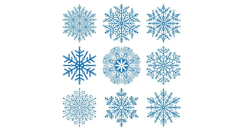 unique snowflakes