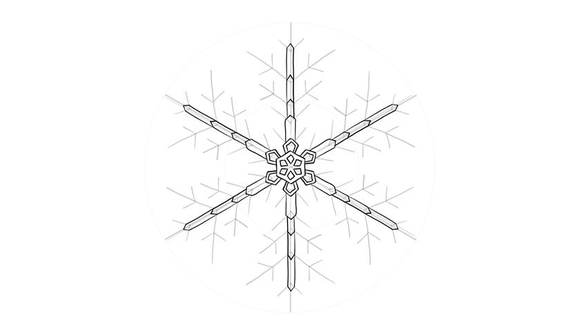 snowflake arms crystal