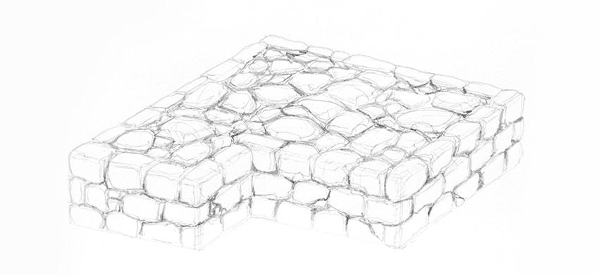 filling between stones