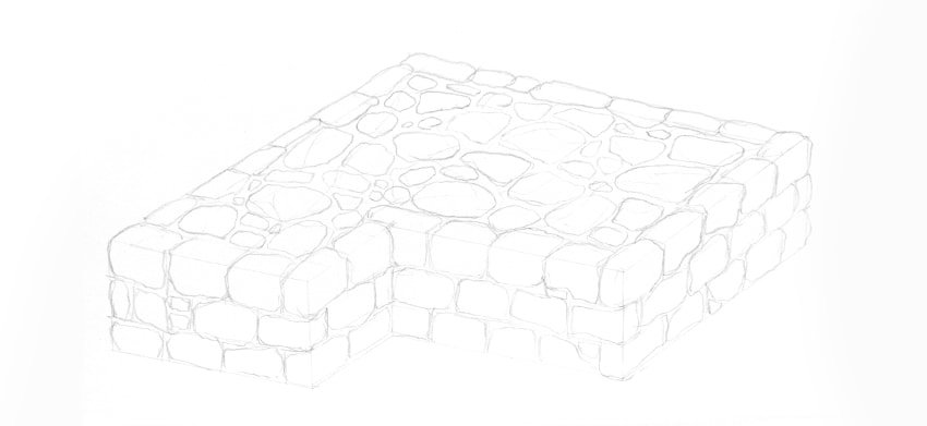 castle wall structure detail