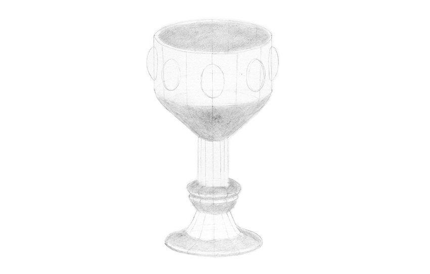 shading of metal cup