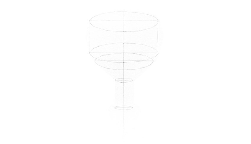 cup drawing shape ellipses
