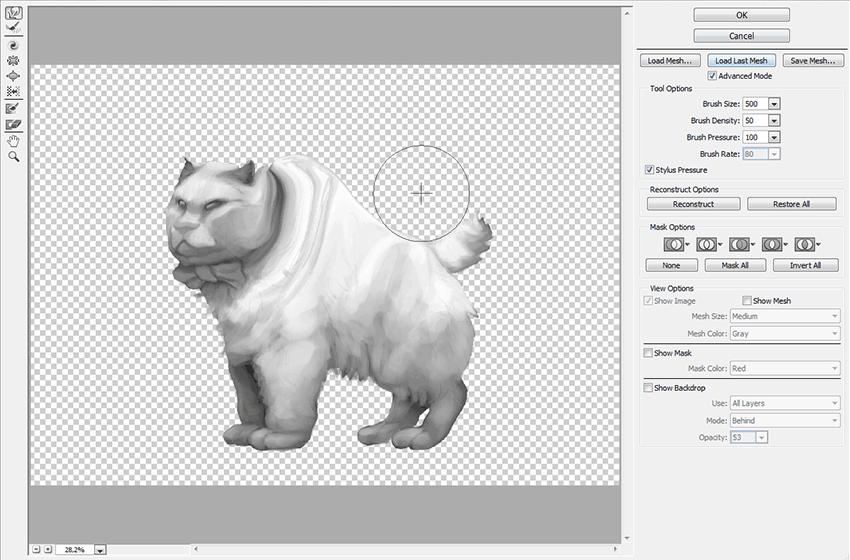 how to change shape of something in photoshop