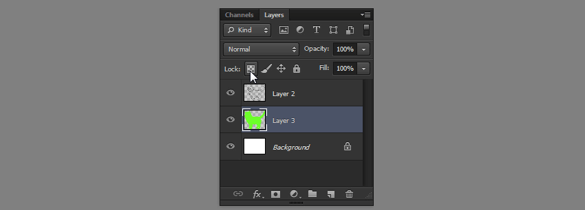 how to lock transparent pixels in photoshop