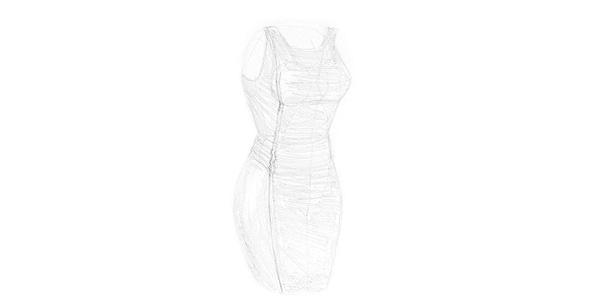 how to shade a dress