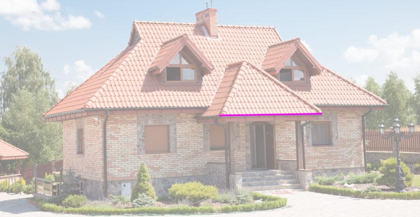 porch roof width