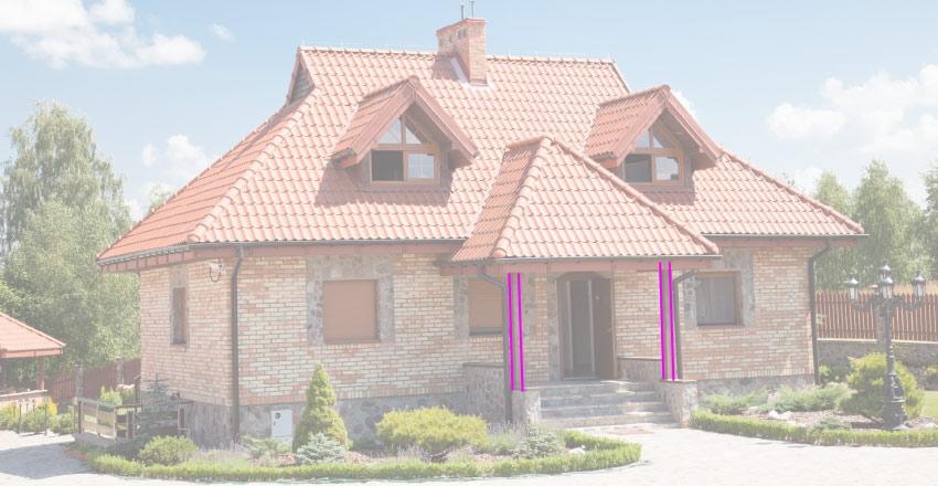 house porch pillar