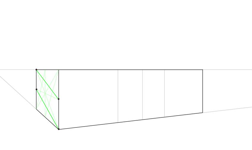 perspective four diagonals