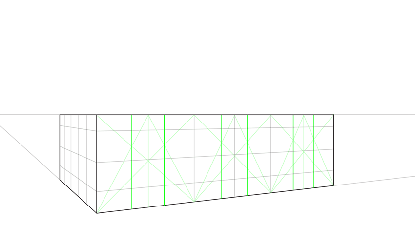 how to draw regular guide lines in perspective