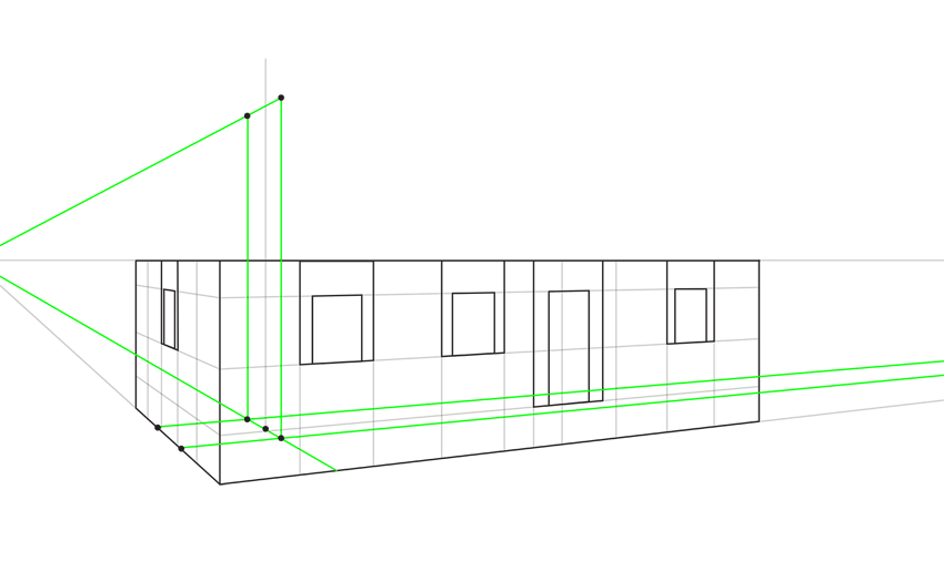 how to use guide lines in perspective