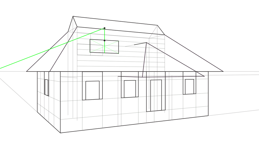 how to measure roof in perspective