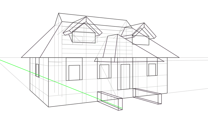 house first step in perspective