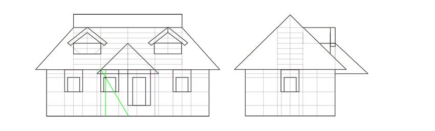house symmetrical porch