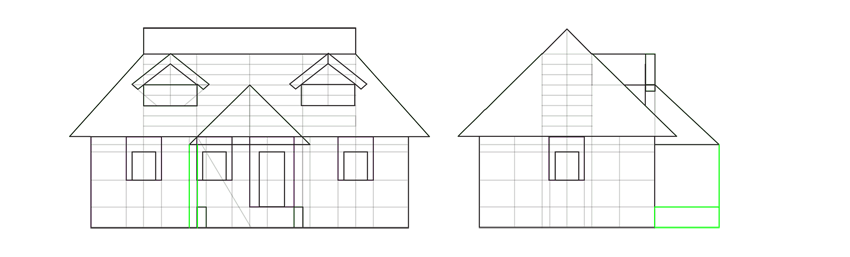 roof over porch