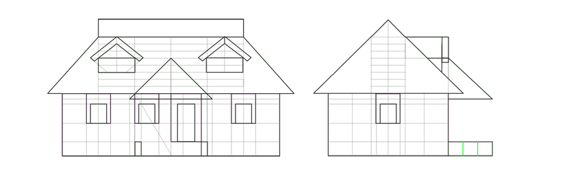 house porch divide into thirds