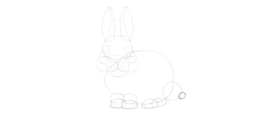 how to draw bunny tail