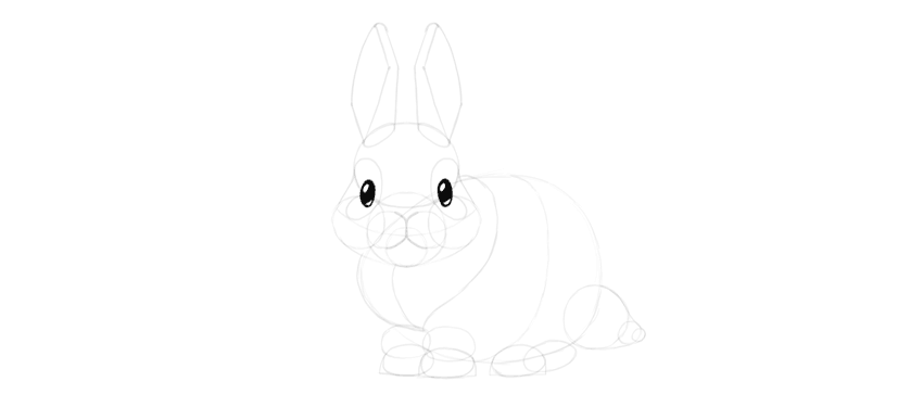 how to draw bunny eyes