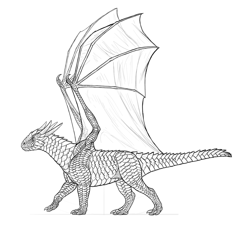 dragon drawing finished