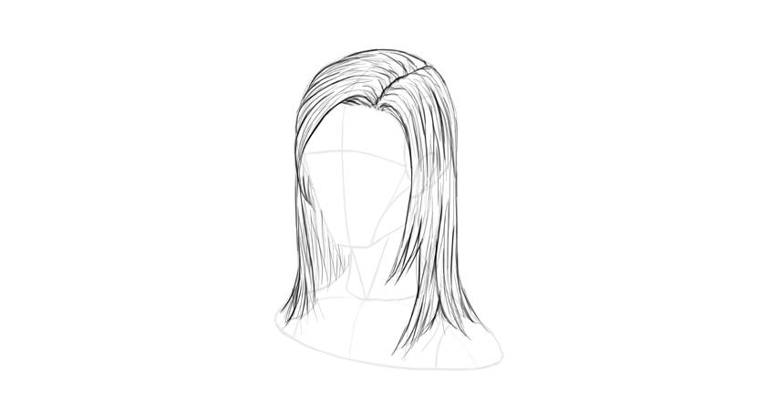 straight hair gentle lines