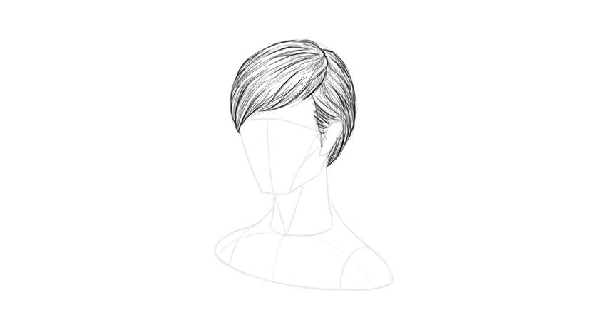 short hair shading