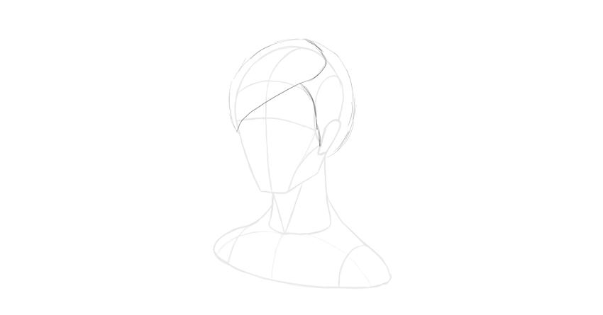 short hair outline hairline