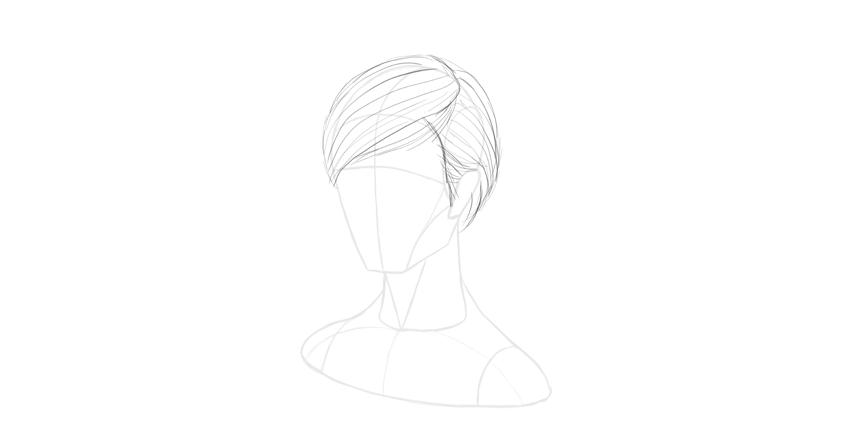 short hair direction