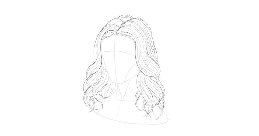 wavy hair direction