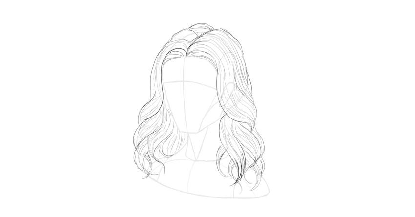 wavy hair divided tips