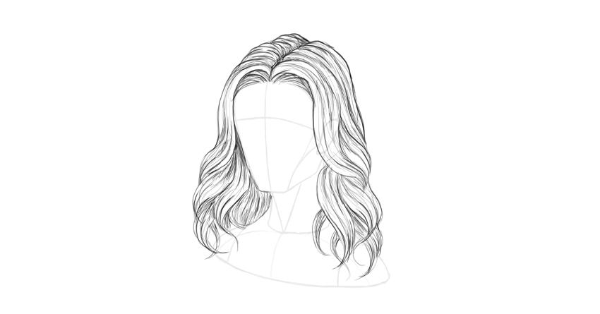 wavy hair shading