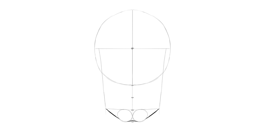 human skull chin detailed
