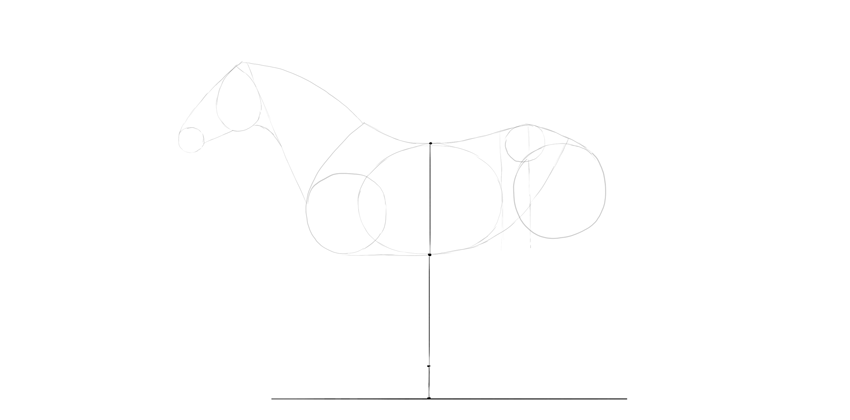 horse drawing distance to ground