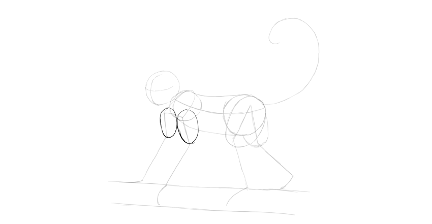 monkey drawing arms shape