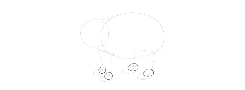 panda drawing joints shape