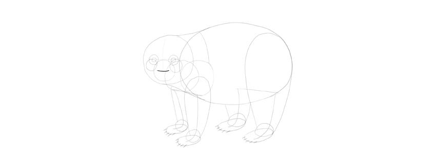 panda drawing nose top