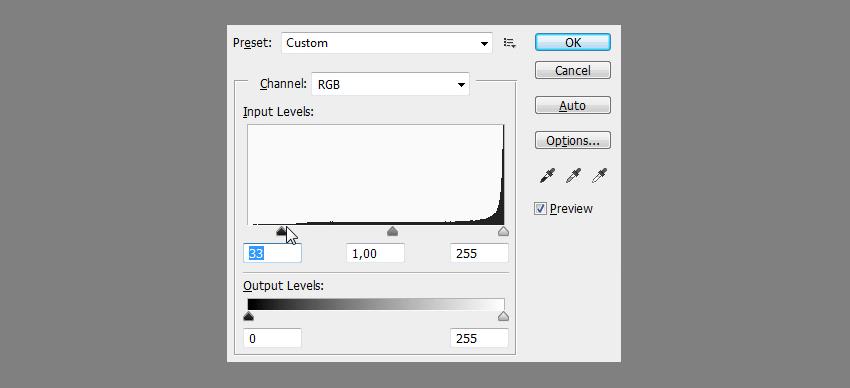 photoshop levels editor